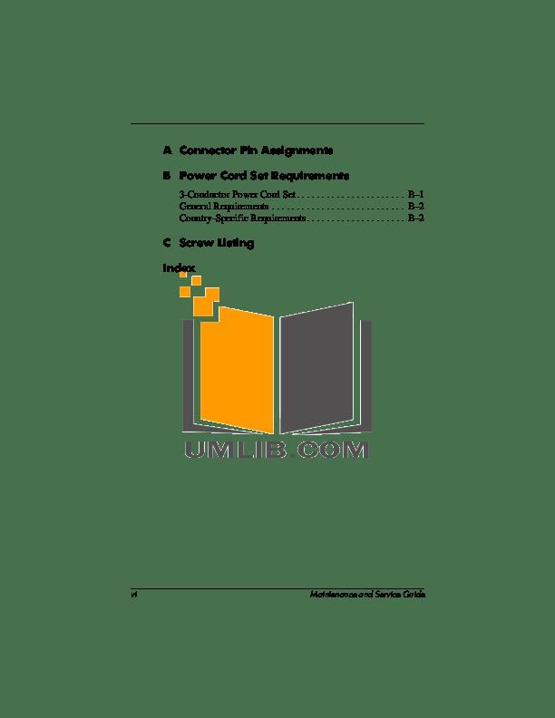 PDF manual for HP Laptop Compaq Presario,Presario X1155