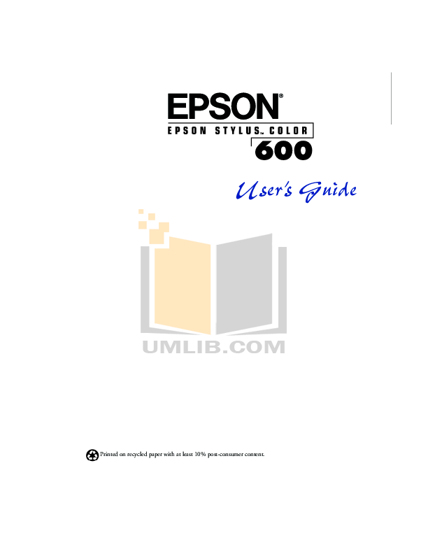 Download free pdf for Epson Stylus Color 600 Printer manual