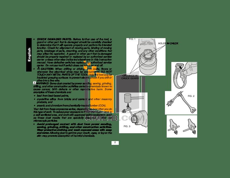 PDF manual for Dewalt Other DW160V Drills