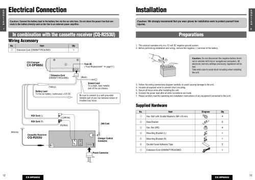 small resolution of panasonic car cd player wiring diagram pin cq c3300u