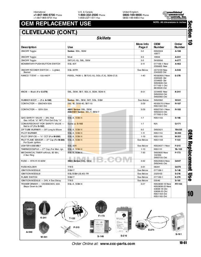 Download free pdf for Cecilware PO-18-220 Oven manual