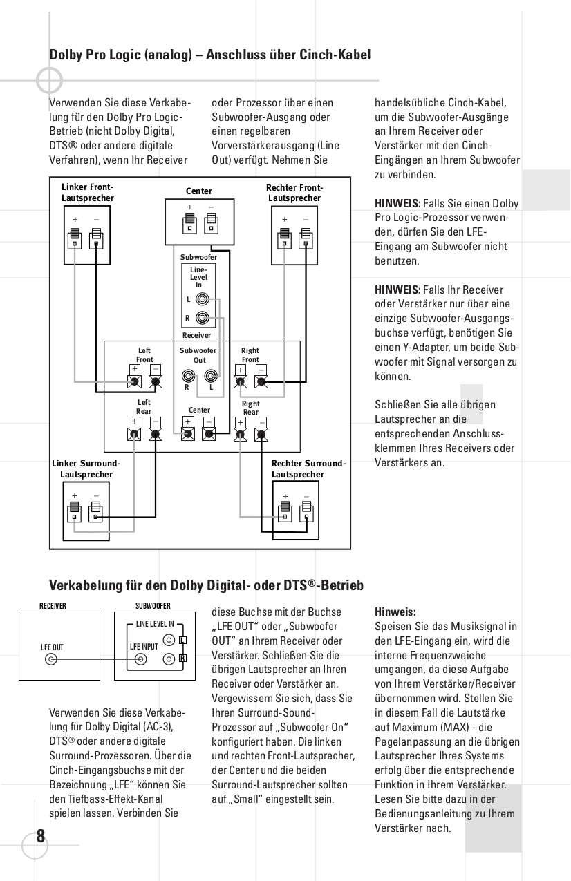 PDF manual for JBL Subwoofer SCS 138 Subwoofer