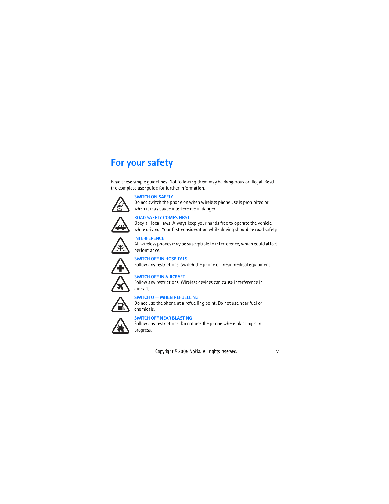 PDF manual for Nokia Cell Phone 1110i