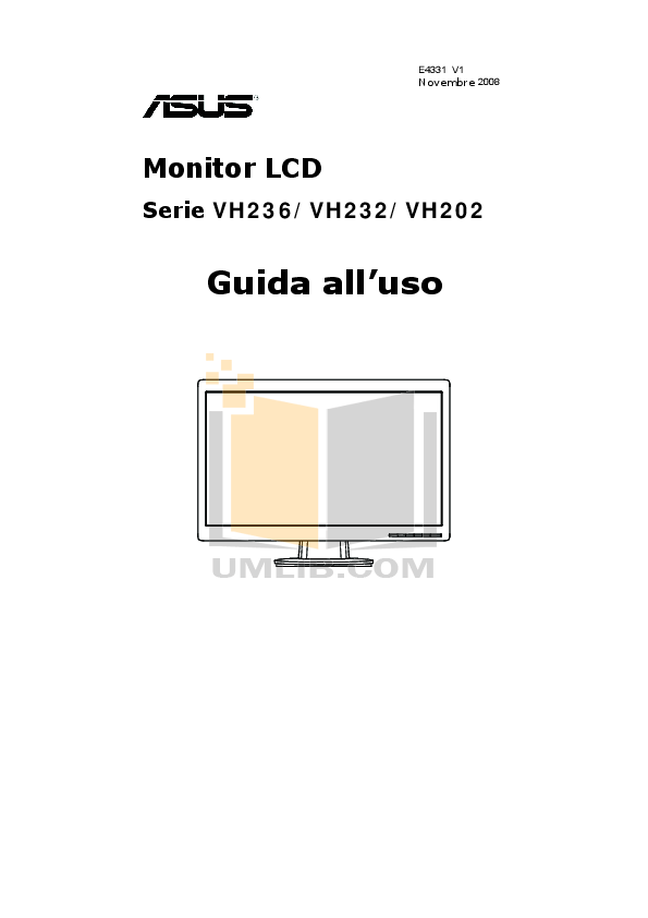 Download free pdf for Asus VH236H Monitor manual