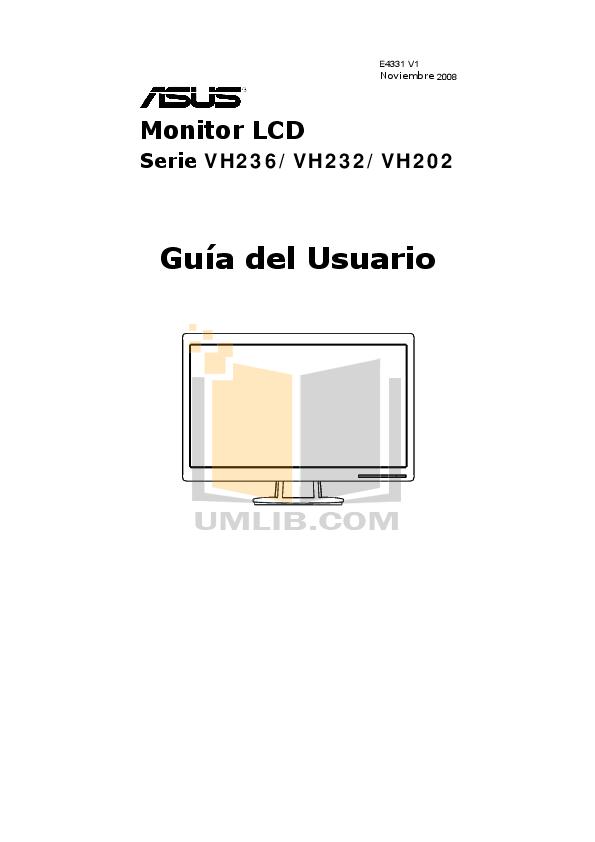 Download free pdf for Asus VH236H Monitor manual