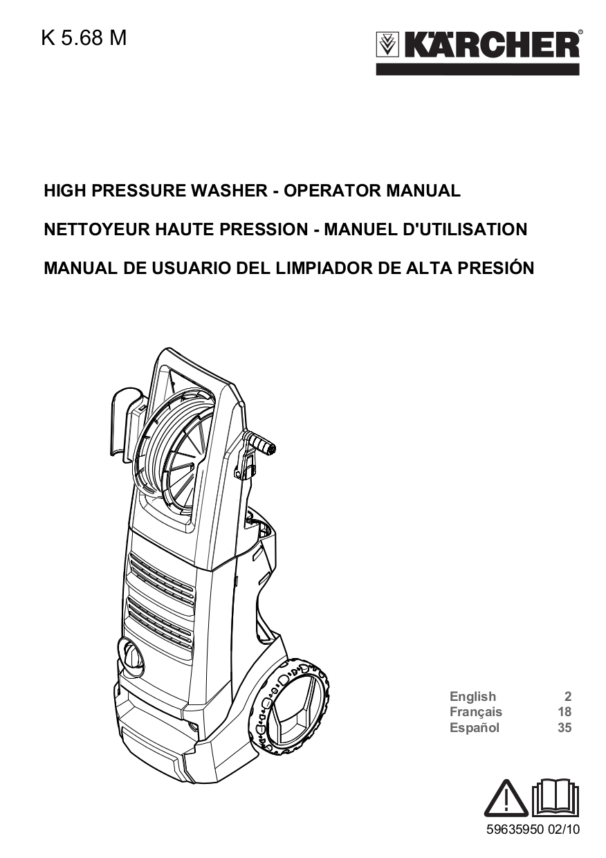 Download free pdf for Karcher K 210 Plus Pressure Washers