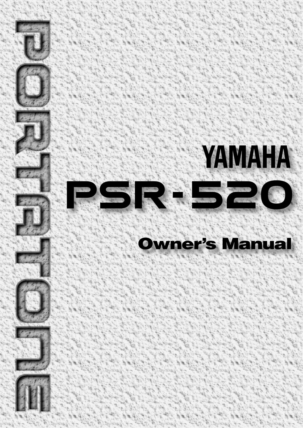 Download free pdf for Yamaha PSR-60 Music Keyboard manual