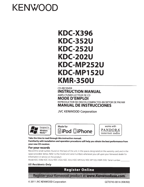 small resolution of pdf for kenwood car receiver kdc 2011s manual
