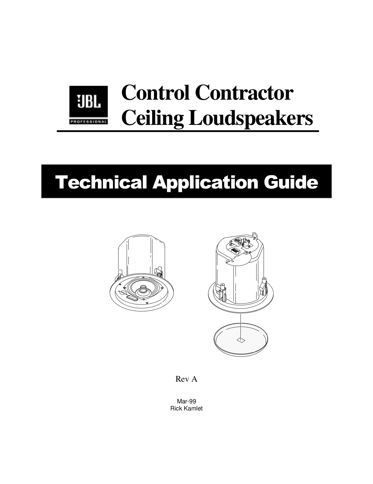 Download free pdf for JBL Control Control 26CT Speaker manual