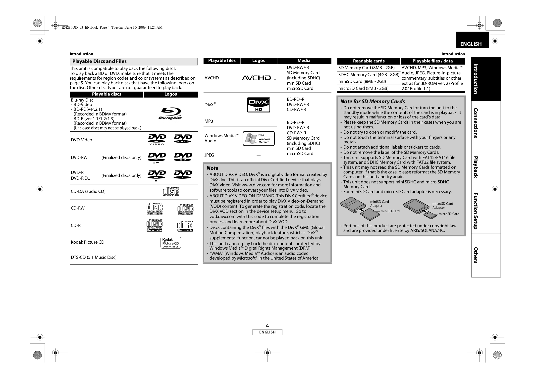 PDF manual for Marantz DVD Players BD7004