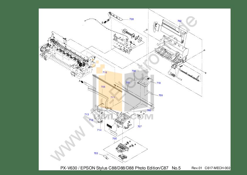 PDF manual for Epson Printer Stylus D88