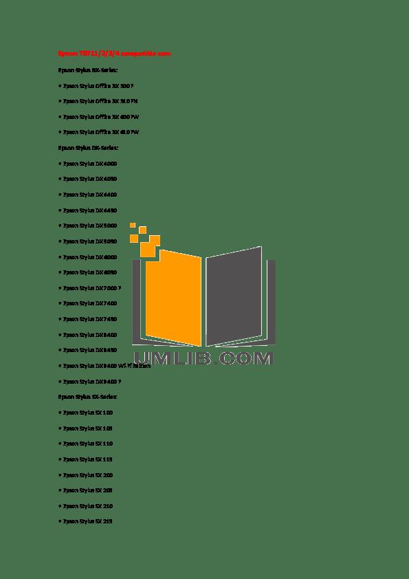 Download free pdf for Epson Stylus D88 Printer manual