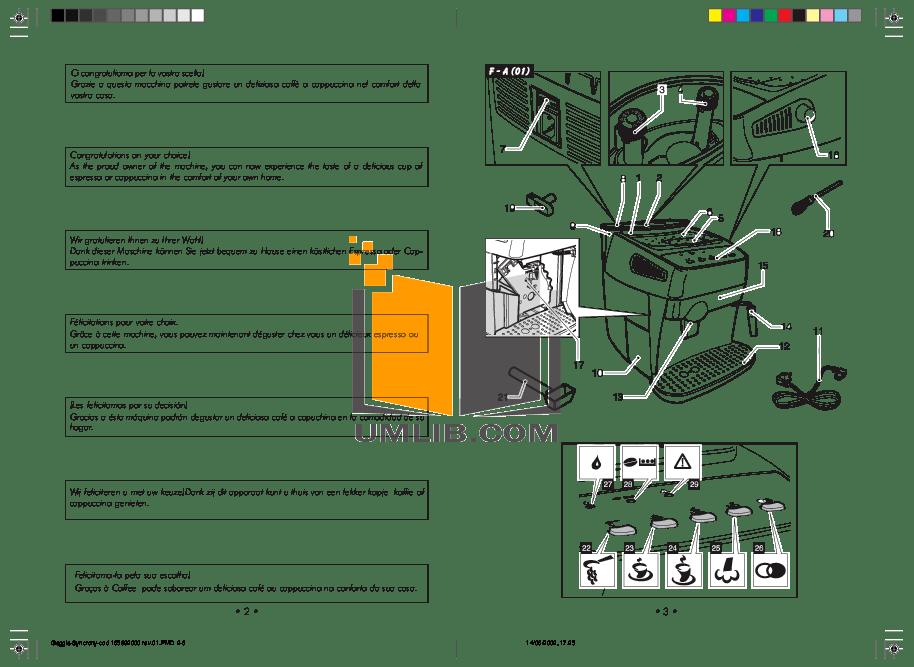PDF manual for Gaggia Coffee Maker Syncrony Compact Digital