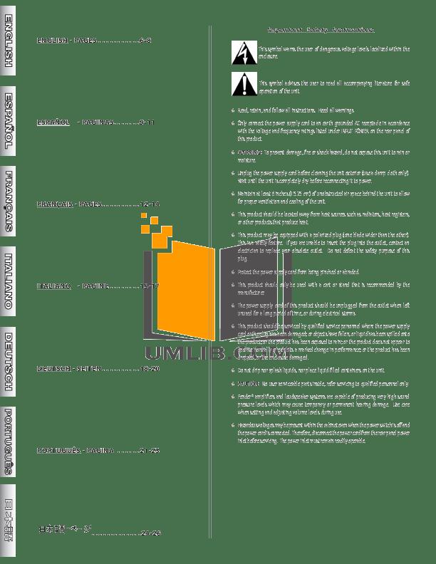 PDF manual for Fender Amp Super Sonic 112