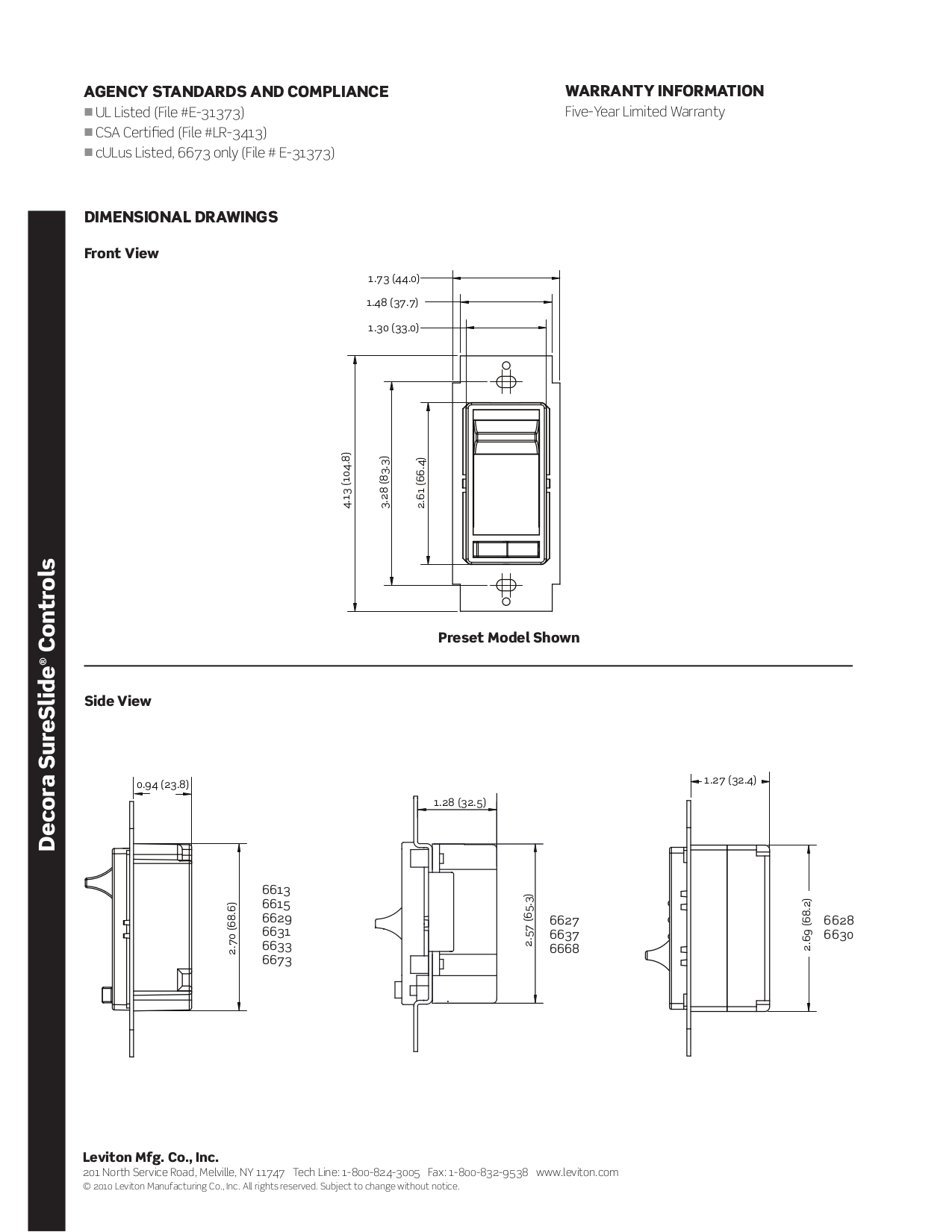 PDF manual for Leviton Other 6615-P Dimmers