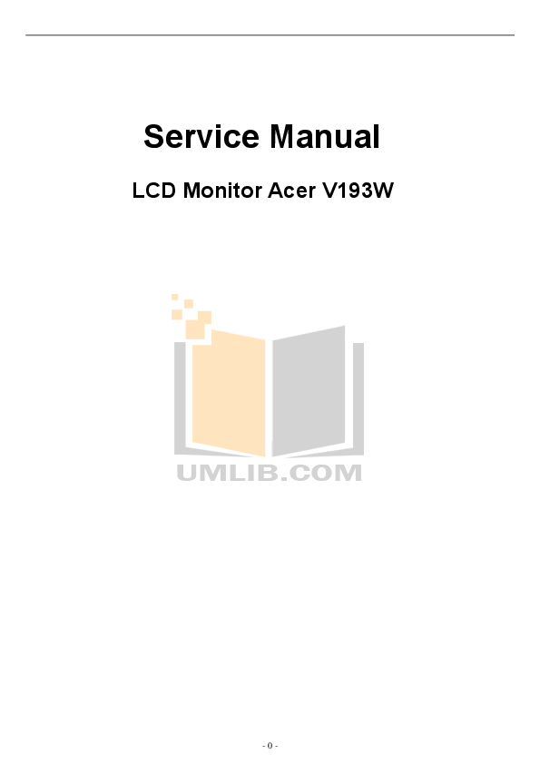 PDF manual for Acer Monitor V193W