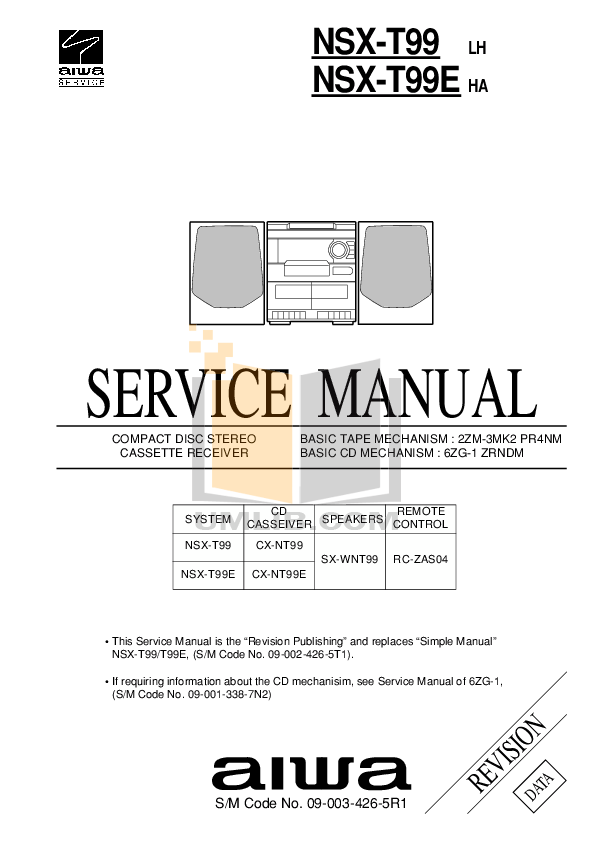 Download free pdf for Aiwa XP-R232 CD Player manual