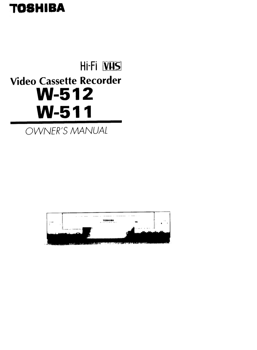 Download free pdf for Toshiba W512 VCR manual