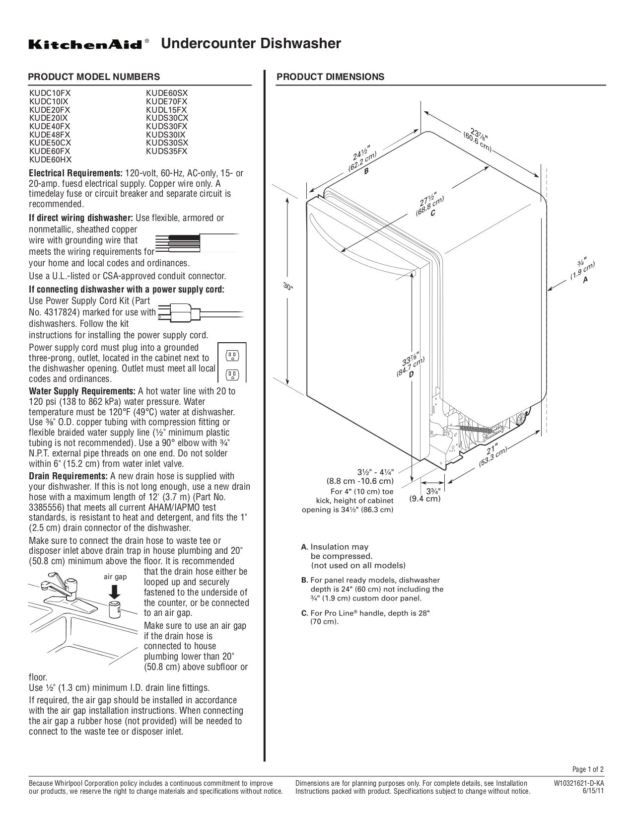 Download free pdf for KitchenAid KUDS35FXSS Dishwasher manual