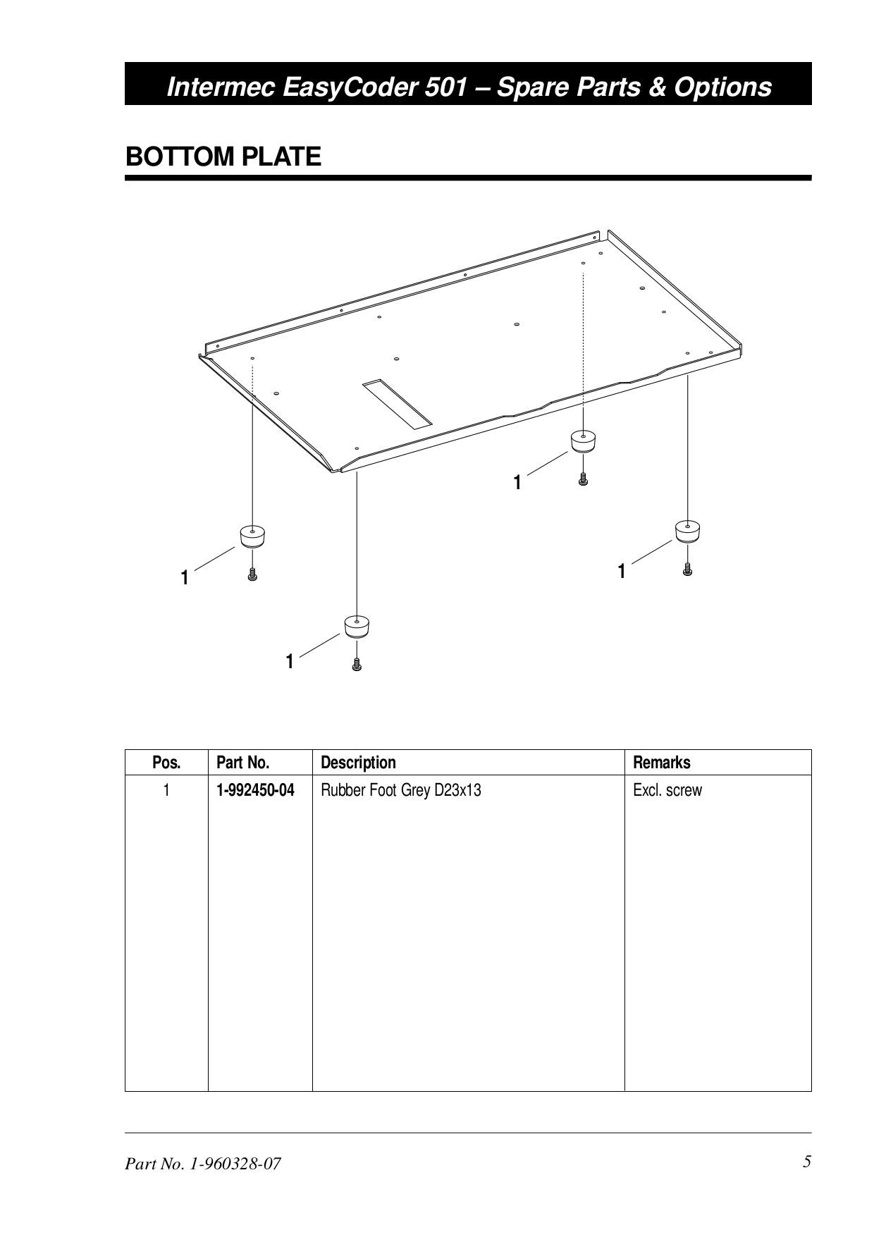 PDF manual for Intermec Printer EasyCoder 501E