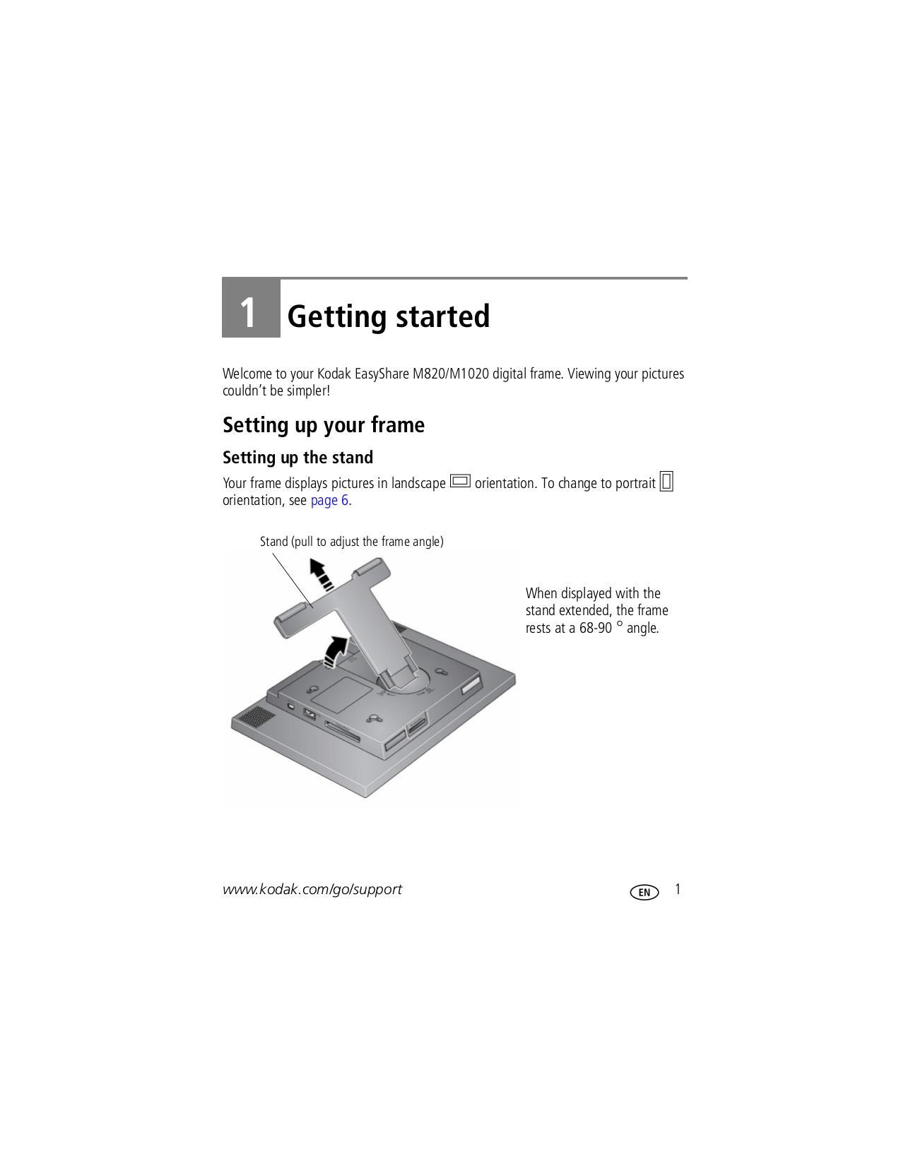 PDF manual for Kodak Digital Photo Frame EasyShare M820