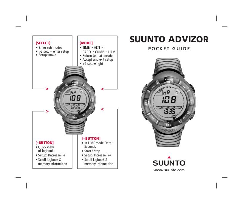 Download free pdf for Suunto Advizor Watch manual