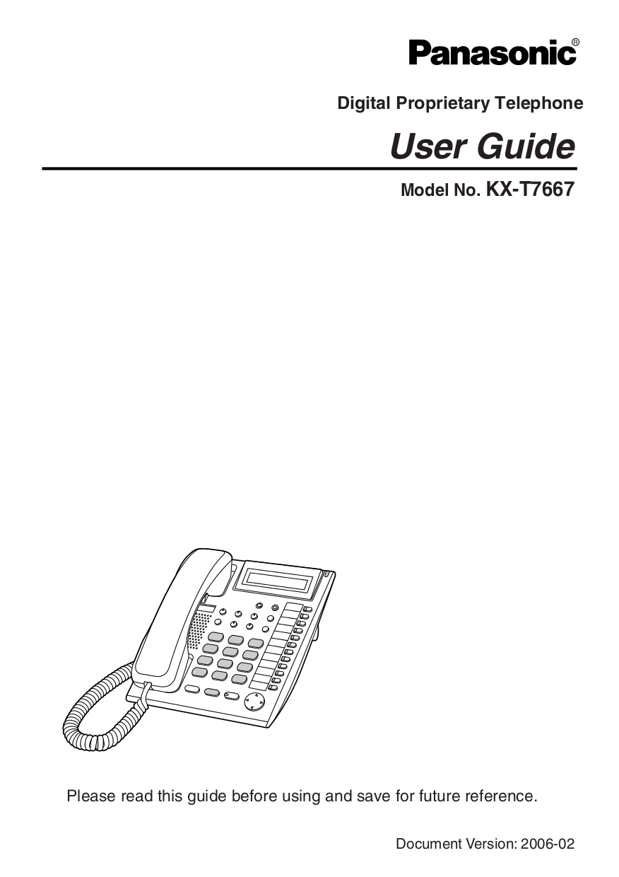 Download free pdf for Panasonic KX-T7667 Telephone manual