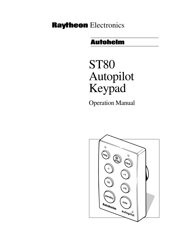 Download free pdf for Raymarine ST80 Autopilot System