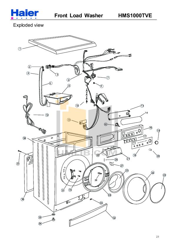 Download free pdf for Haier HKS1000TXVE Washer manual