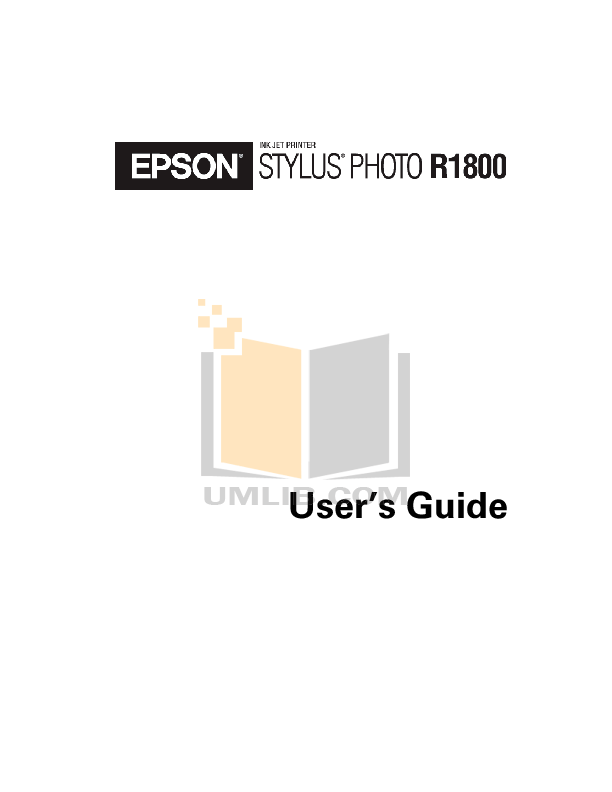 Download free pdf for Epson Stylus Photo R1800 Printer manual