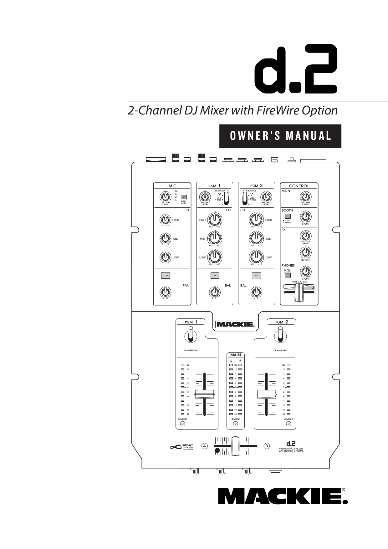 Download free pdf for Mackie D.2 DJ mixer Other manual