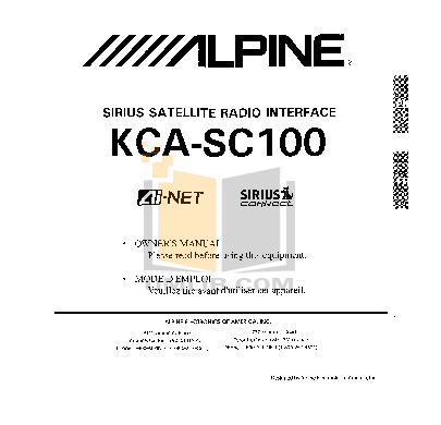 Download free pdf for Alpine CDA-9805 Car Receiver manual