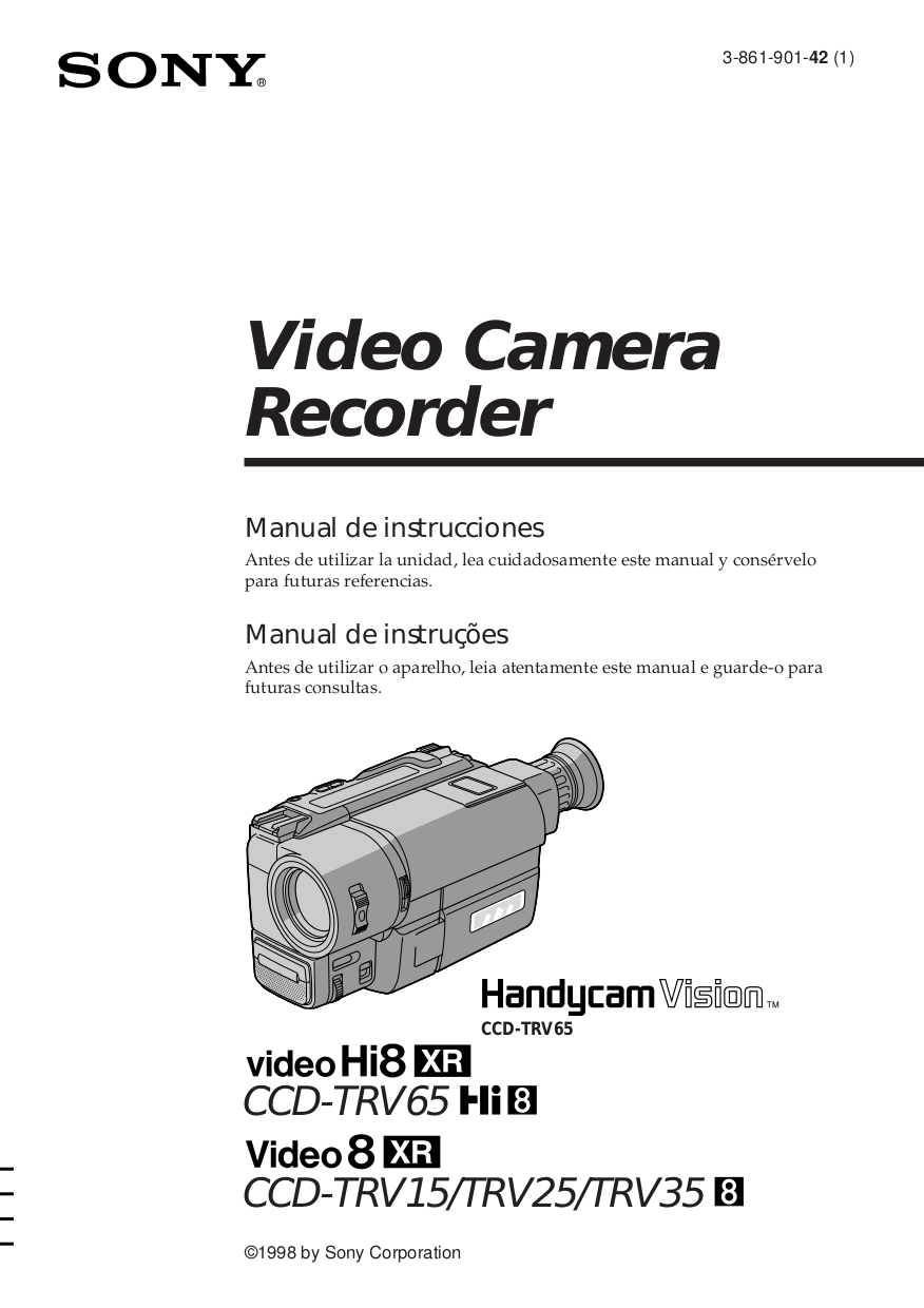 Download free pdf for Sony Handycam CCD-TRV65 Camcorders