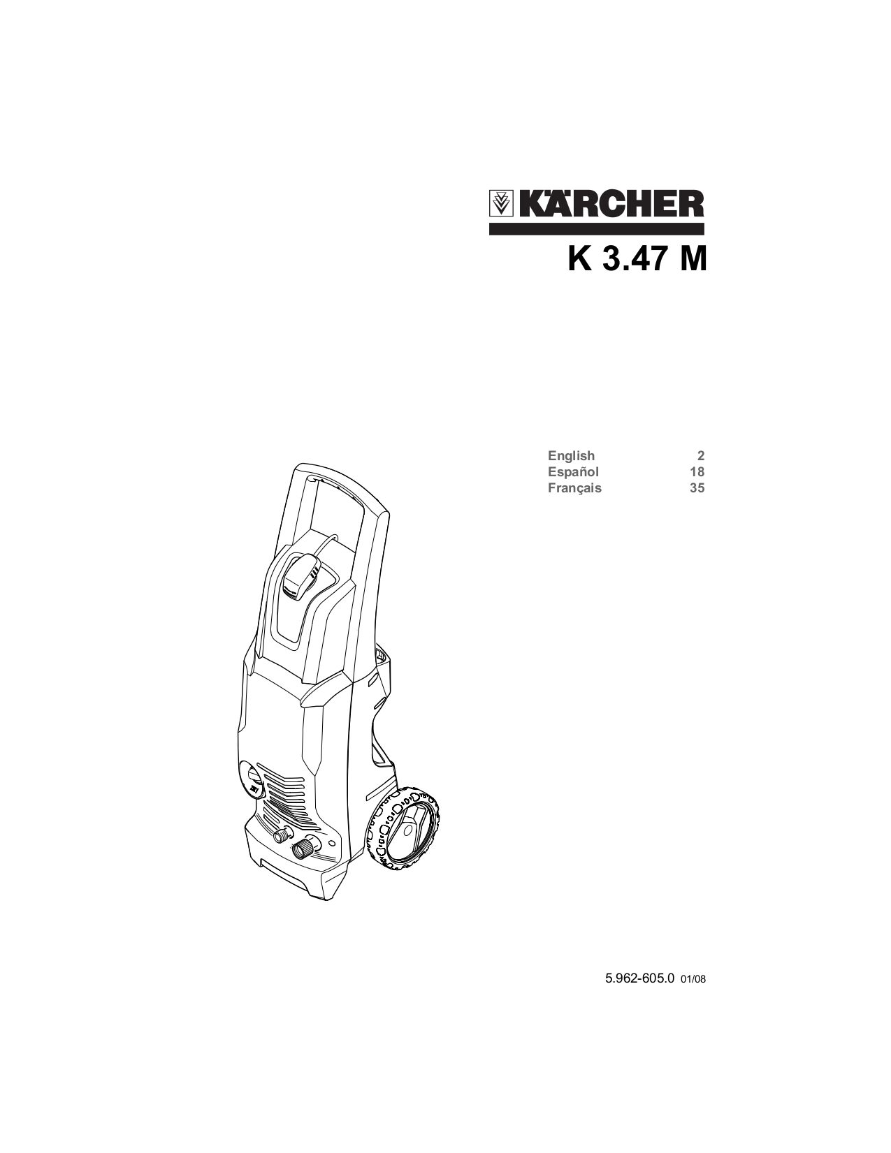 Download free pdf for Karcher K 3.47 M Pressure Washers