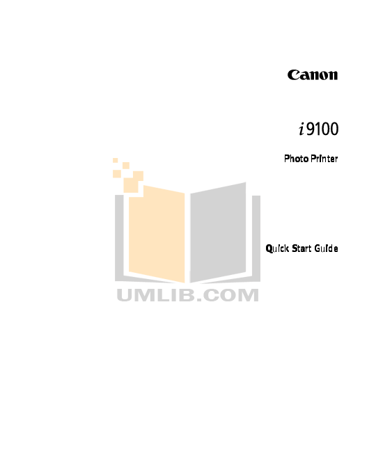 Download free pdf for Canon i9100 Printer manual