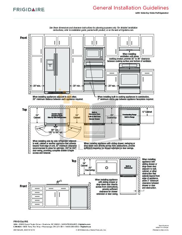 PDF manual for Frigidaire Range Gallery FGGS3045K