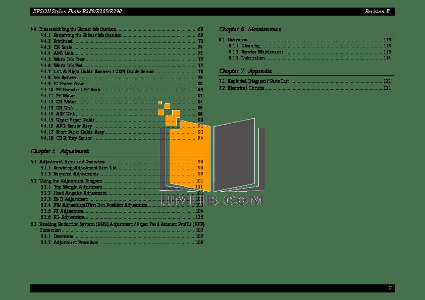 PDF manual for Epson Printer Stylus Photo R360