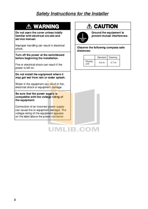 PDF manual for Furuno GPS RD-30