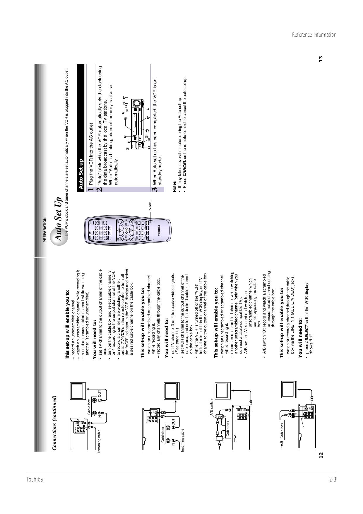 PDF manual for Toshiba VCR W522