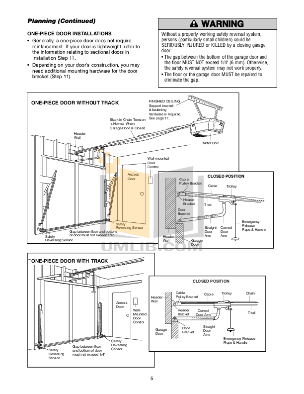 PDF manual for Chamberlain Other Power Drive PD212 Garage