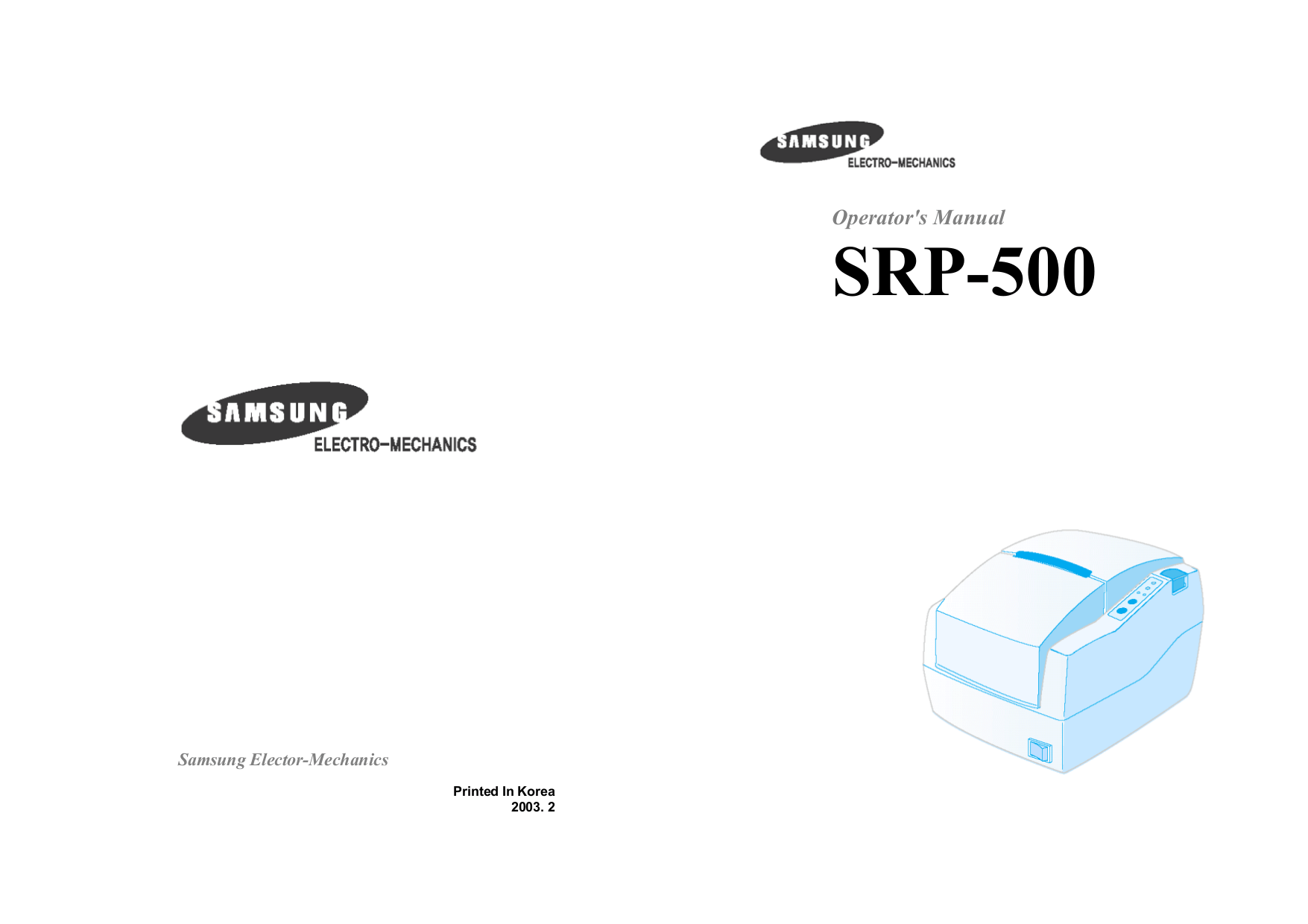Download free pdf for Samsung SRP-500 Printer manual