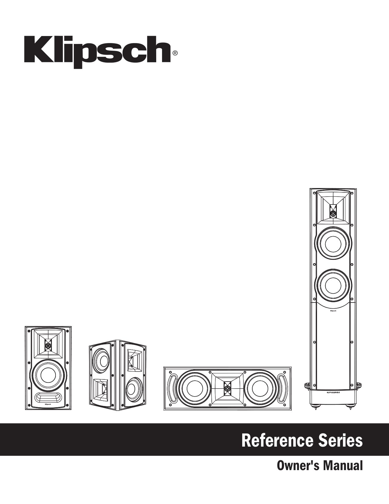 Download free pdf for Klipsch Reference Series RF-82