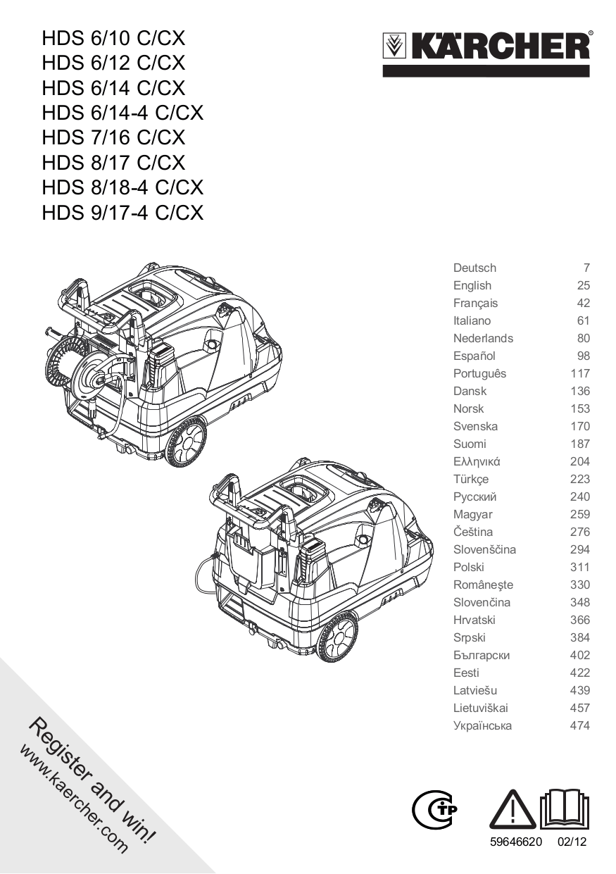 Download free pdf for Karcher K 402 Pressure Washers Other