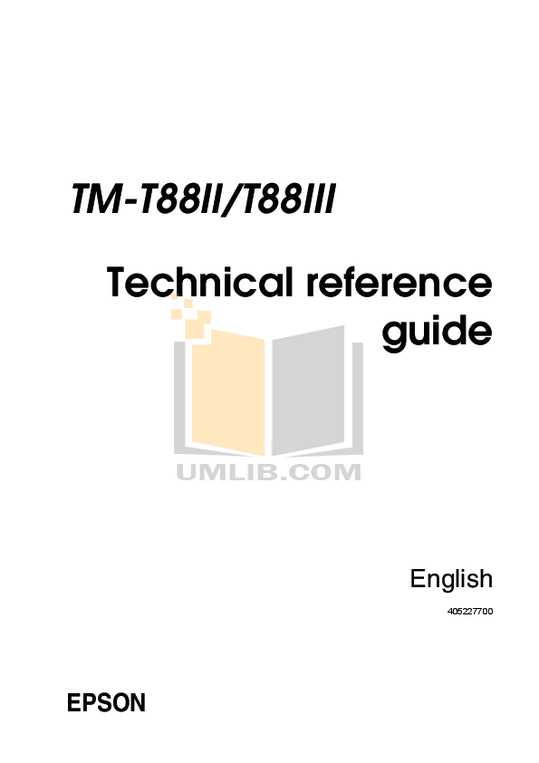Download free pdf for Epson TM-T88 Printer manual