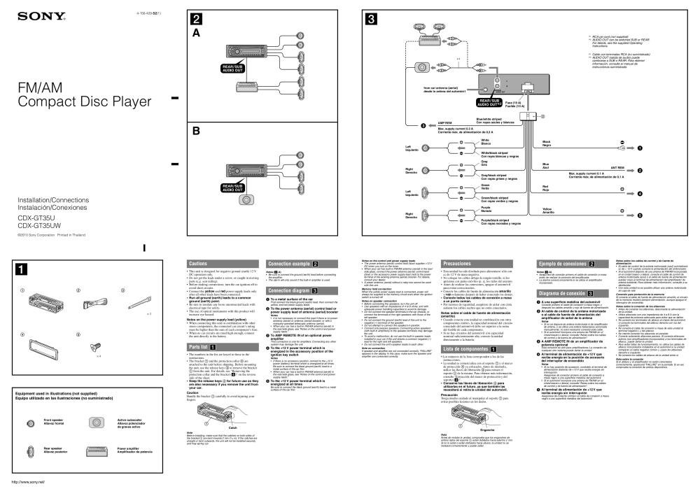 medium resolution of download free pdf for sony xplod cdx gt35uw car receiver manual sony cdx gt420u wiring diagram sony cdx gt35uw wiring diagram