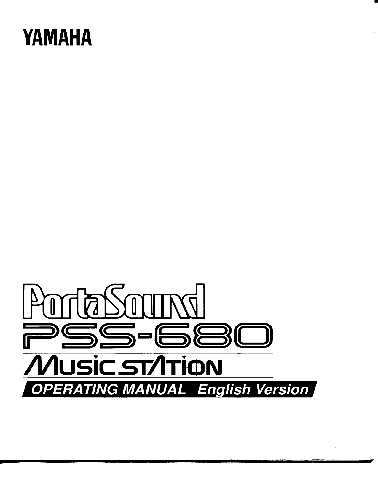 Download free pdf for Yamaha PSS-680 Music Keyboard manual