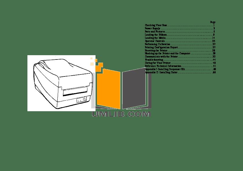 PDF manual for Argox Printer OS-214 Plus