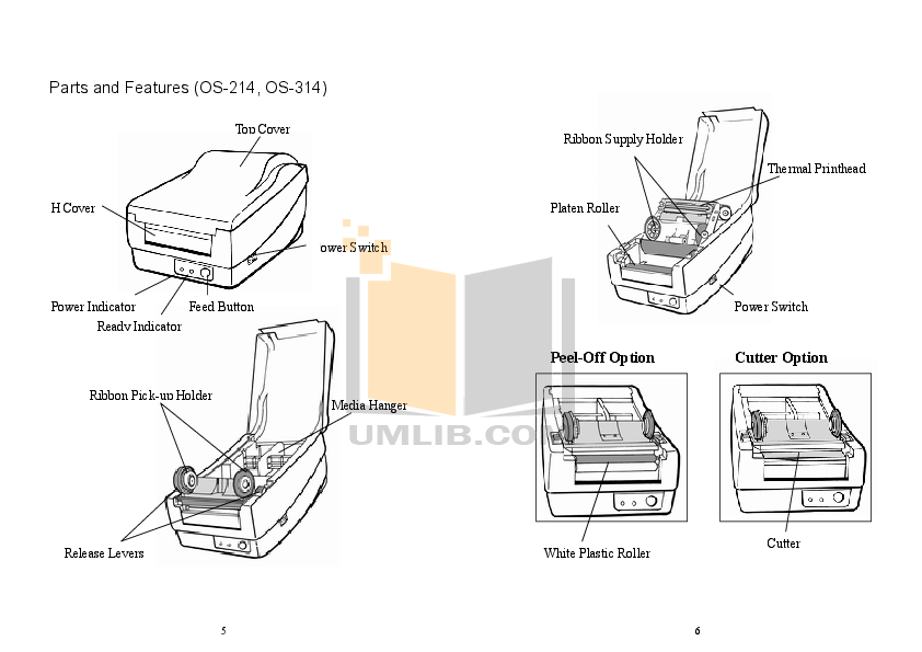 PDF manual for Argox Printer OS-214 Plus