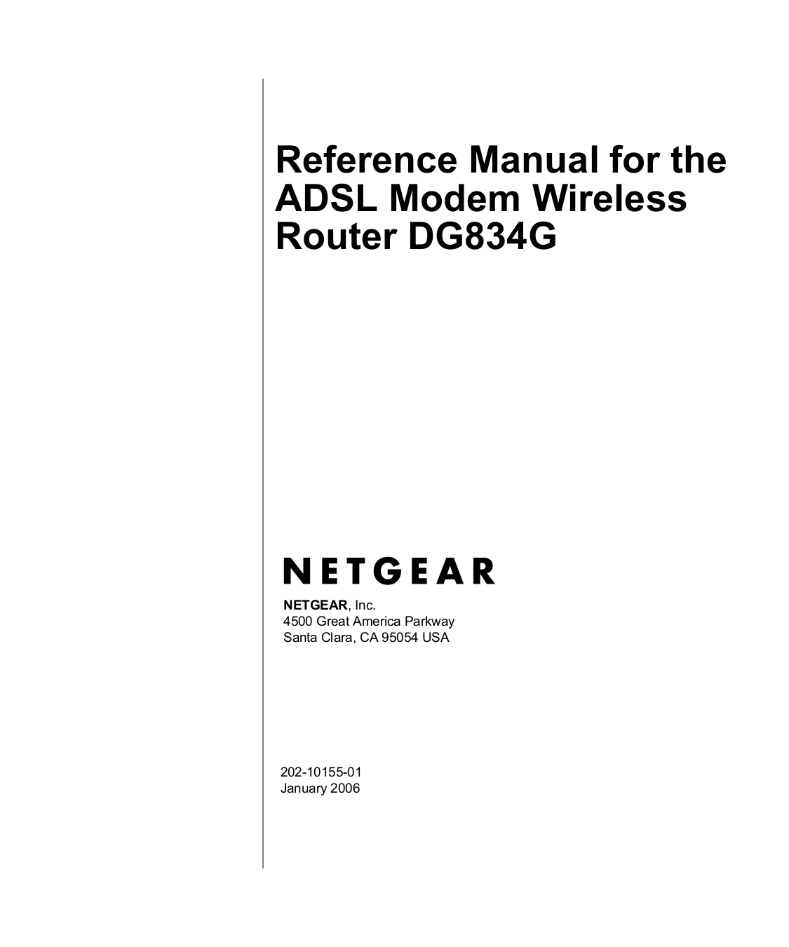 Download free pdf for Netgear DG834GTB Wireless Router manual
