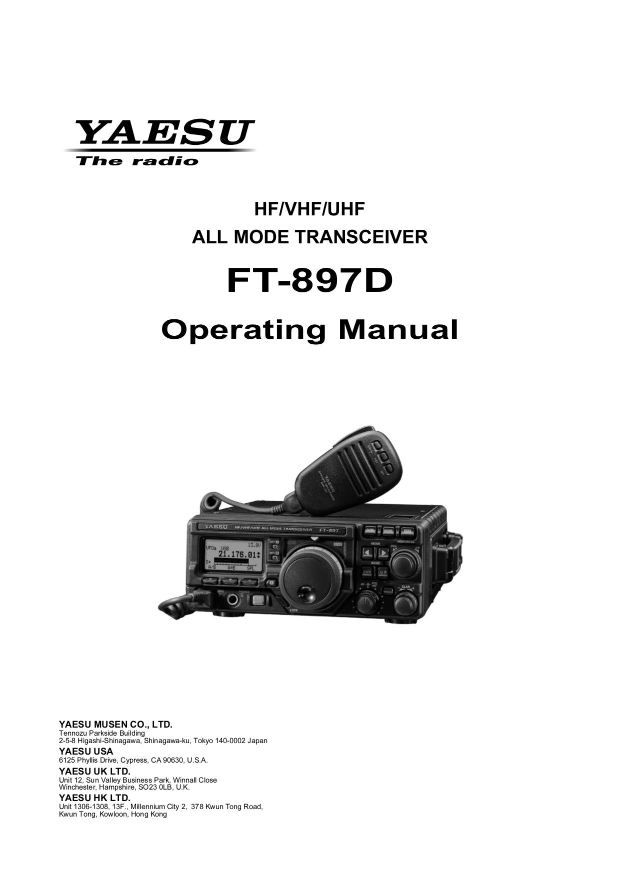 Download free pdf for Yaesu FT-897D HF Transceiver Other